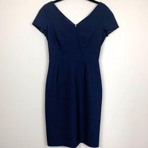 Banana Republic Navy Blue Wool Sheath Dress  2
